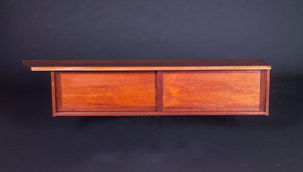 13: GEORGE NAKASHIMA Fine cherry wall-hanging cabinet w