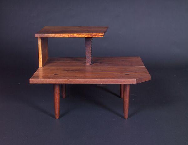 GEORGE NAKASHIMA Rare and early walnut corner table