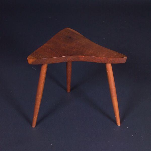 GEORGE NAKASHIMA Walnut side table with free-form t