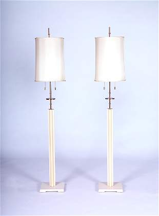 TOMMI PARZINGER Pair of fine floor lamps, each with
