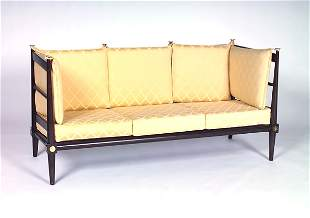 TOMMI PARZINGER Fine and rare daybed with eight loo