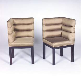 WILLIAM PAULMAN Two-piece chair, each component wit