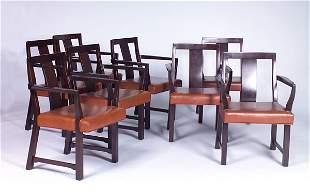 EDWARD WORMLEY/DUNBAR Eight armchairs with single b