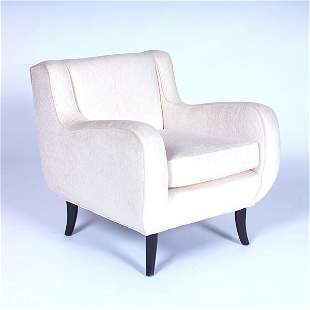 ERNST SCHWADRON Lounge chair upholstered in ivory