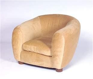"JEAN ROYERE ""Polar Bear"" chair fully-reupholstered"