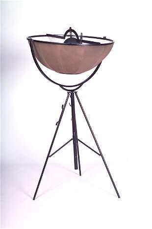 "FORTUNY ""Umbrella"" floor lamp with pivoting tan sha"