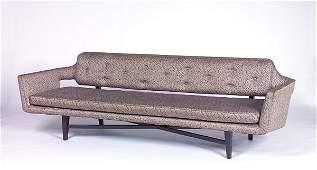 116: EDWARD WORMLEY/DUNBAR Fine floating-back sofa full