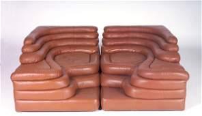 "158: UBALD KLUG/DE SEDE ""Terrazza"" modular lounge sofa,"