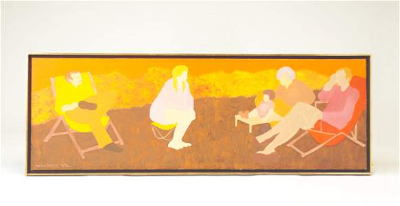 633: March Avery; Afternoon in Italy; 1971-1972; oil on