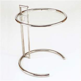 EILEEN GRAY-designed side table with adjustable-he