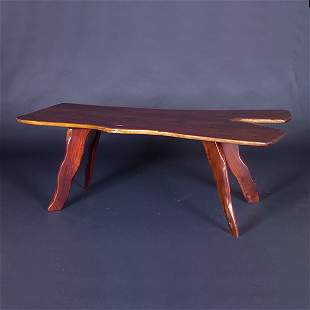 STYLE OF NAKASHIMA 1970s Crafts movement dining ta
