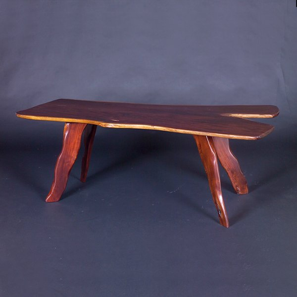 704: STYLE OF NAKASHIMA 1970s Crafts movement dining ta