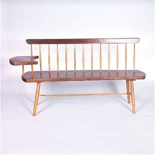 STEPHEN P. MILLER/NEW HOPE SCHOOL Walnut bench in