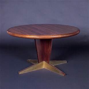 VLADIMIR KAGAN Pedestal dining table, its circular