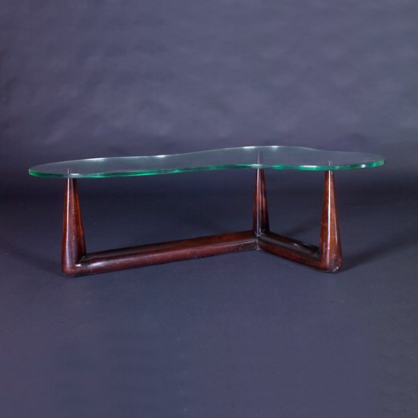 725: T.H. ROBSJOHN-GIBBINGS Coffee table with biomorphi