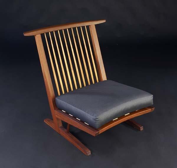 2: GEORGE NAKASHIMA Conoid Cushion chair in walnut with