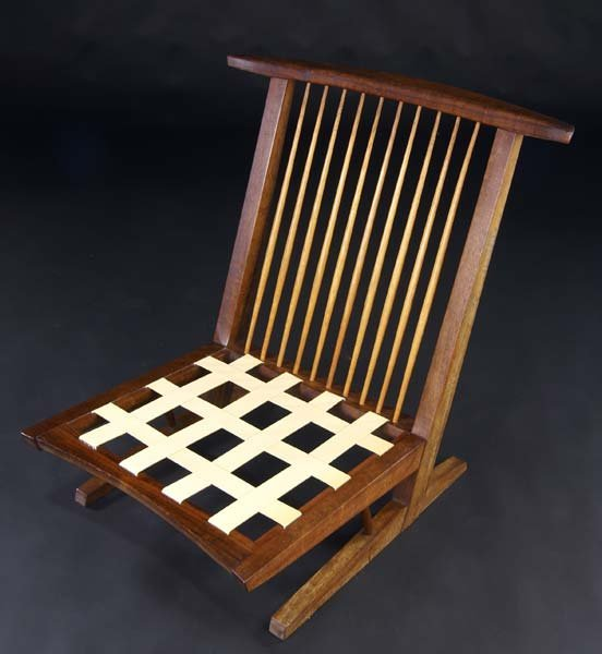 3: GEORGE NAKASHIMA Conoid Cushion chair in Burmese lau