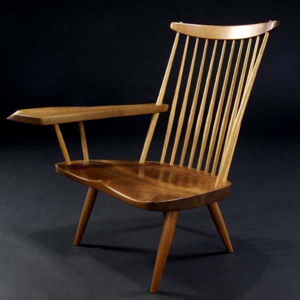 9: GEORGE NAKASHIMA Lounge chair with free-edge writing