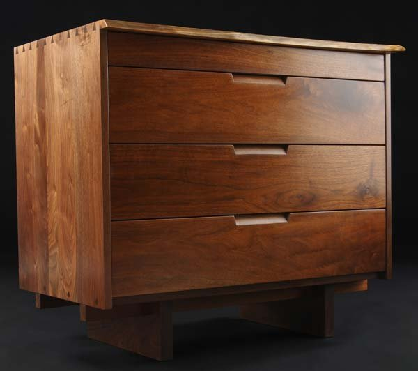 10C: GEORGE NAKASHIMA Walnut four-drawer dresser, ident
