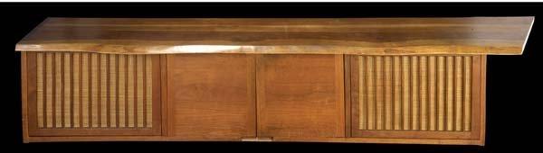 12A: GEORGE NAKASHIMA Walnut wall-hanging cabinet with