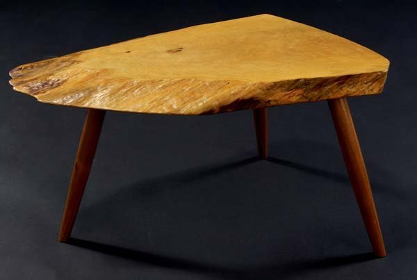 20: GEORGE NAKASHIMA Wohl table with free-edge top, 198