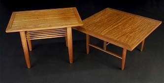 29: GEORGE NAKASHIMA / WIDDICOMB Two side tables in Sun