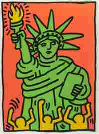 287: Keith Haring (American, 1958-1990) Statue of Liber