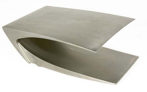 724: JONATHAN SINGLETON Unflat stainless steel low coff
