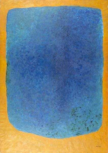 729: Rex Ashlock (American, 1919-1999) Blue on Orange,