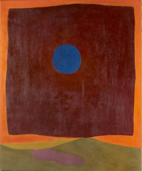730: Rex Ashlock (American, 1919-1999) Abstract with Bl