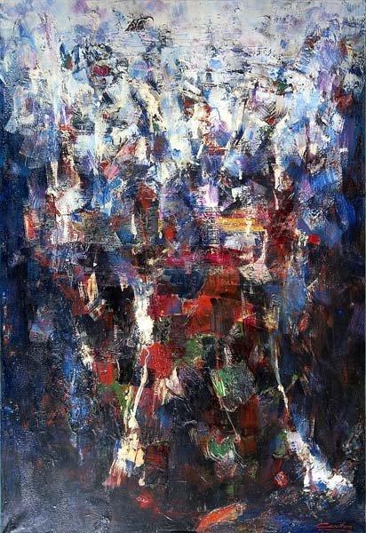 733: Norman Carton (American, 1908-1980) Blue Grotto, 1