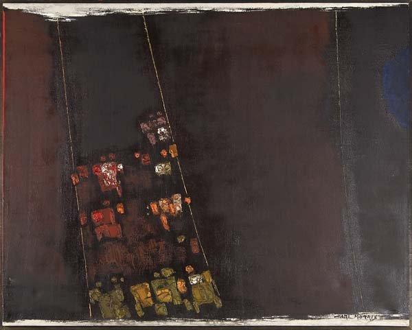 737: Carl Morris (American, b. 1911) Untitled; Oil on c