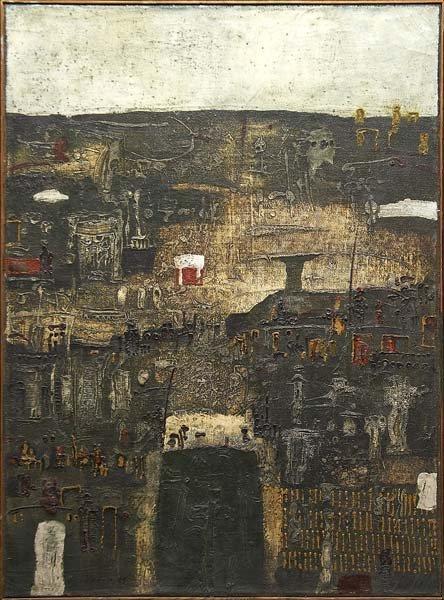 738: Jan Tarasin (Polish, b. 1926) Brzeg, 1965; Oil on