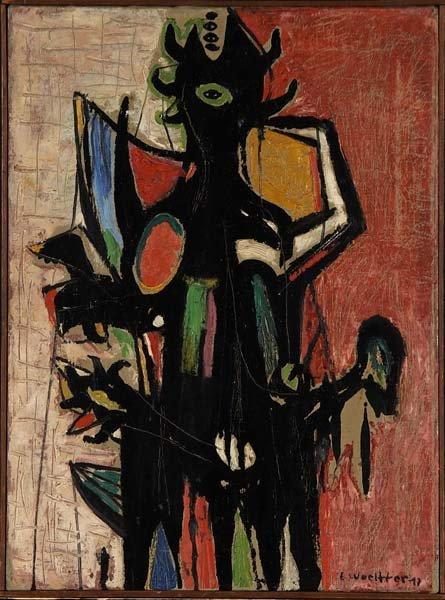 741: Emerson Woelffer (American, 1914-2003) Untitled, 1