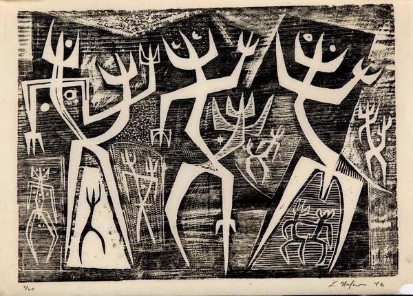 742: Leonard Nelson (American, 1912-1993) Four works of