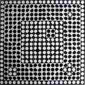 826: VICTOR VASARELY / ROSENTHAL NB 22 Caope, very larg