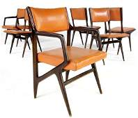 1082: GIO PONTI / M. SINGER & SONS Set of six dining ch