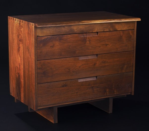8: GEORGE NAKASHIMA Walnut four-drawer dresser with fre