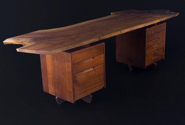 10: GEORGE NAKASHIMA Spectacular Double-Pedestal Desk w