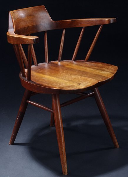 19: GEORGE NAKASHIMA Walnut Arm chair. (Provenance avai