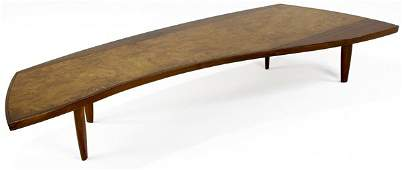 32A: GEORGE NAKASHIMA / WIDDICOMB Walnut coffee table w