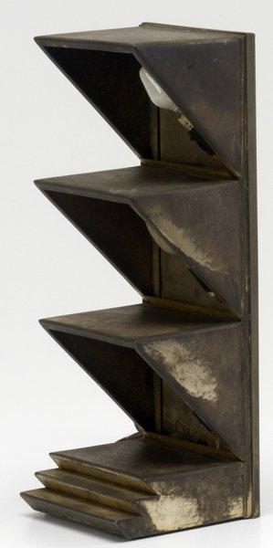 78: DONALD DESKEY Silver-plated metal desk lamp, 1927.