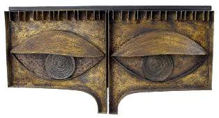 PAUL EVANS Wall-hanging welded steel Eye Cabinet,