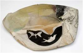 """353: PAUL SOLDNER Stoneware wall-hanging sculpture, """"He"""