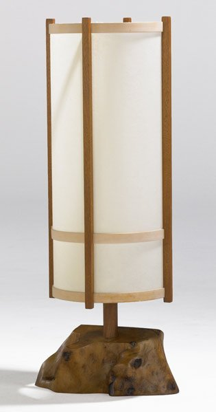 4: GEORGE NAKASHIMA Table lamp with cylindrical paper s