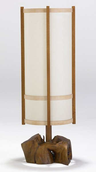 5: GEORGE NAKASHIMA Table lamp with cylindrical paper s