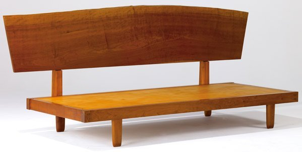 8: GEORGE NAKASHIMA Day Bed with Plank Back in cherry,