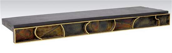 149 PAUL EVANS Patinated wallhanging buffet