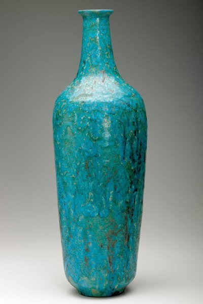 213: NATZLER Tall and important bottle-shaped vase