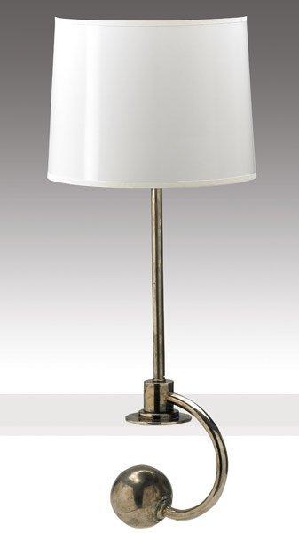 264: WILLIAM LESCAZE Cromed steel counterbalance lamp